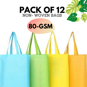 Non Woven Bag-Pack of 12 (80GSM)