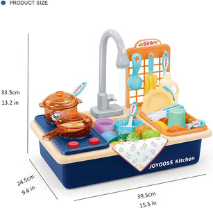 Kids Play Kitchen Sink Blue