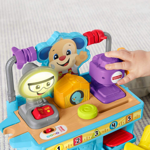 Image of Fisher Price Laugh and Learn Busy Learning Tool Bench