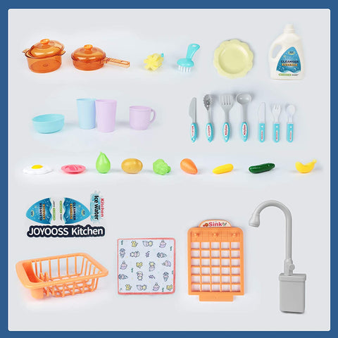 Image of Kids Play Kitchen Sink Blue