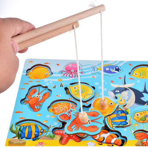 Wooden Magnetic Fishing
