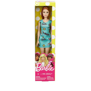 Mattel Barbie Chic Doll in Blue Dress with Prints