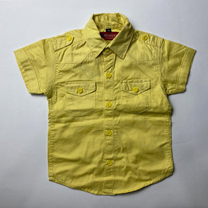 Yellow Cotton Shirt For Kids