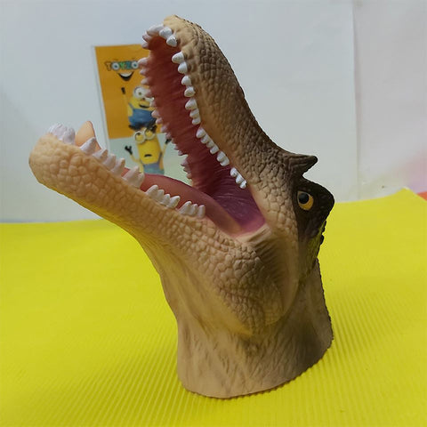 Image of Rubber Animal Hand Puppets-Crocodile