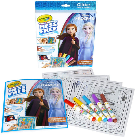 Color Wonder Mess Free Frozen 2 Glitter Effects Set