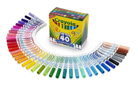 Image of Crayola Washable Markers Broad Point Assorted Classic Colors 40 per Set