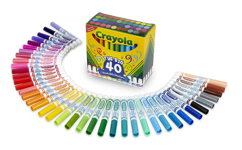 Crayola Washable Markers Broad Point Assorted Classic Colors 40 per Set