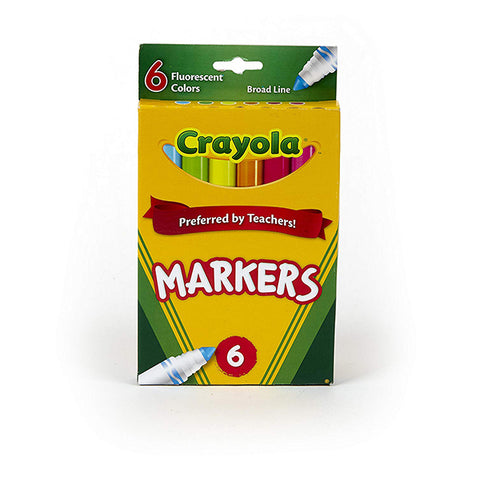 Image of Crayola 6ct Fluorescent Colors Online-587748