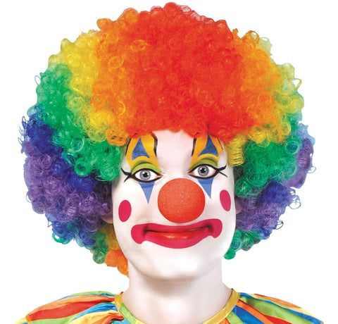 Image of Halloween Rainbow Clown Wig