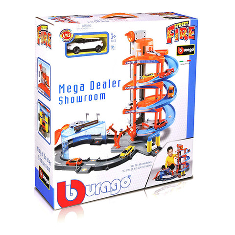 "Image of Bburago Mega Dealer Showroom"" Model Toy, 1:43 Scale"