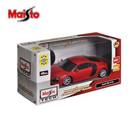 Image of Maisto 2009 Audi R8 V10 Rc Car 1:24 Scale