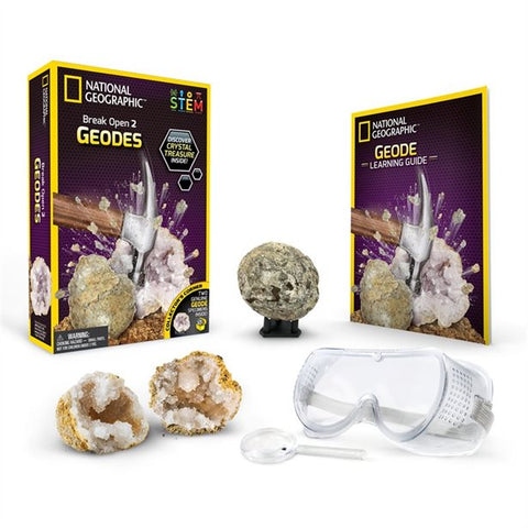 National Geographic Break Open 2 Geodes Science Kit