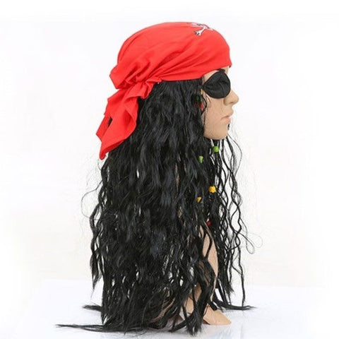 Image of Halloween Pirates of the Caribbean Pirate Wig