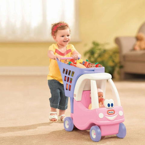 Image of Little Tikes Princess Cozy Shopping Cart-618338/620195