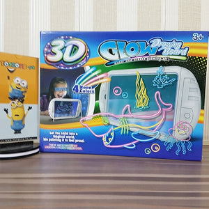Magic 3D Drawing Board With 3D Glasses (Shark)