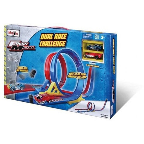Image of Maisto Fresh Metal Dual Race Challenge Playset-12362