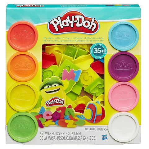Play-Doh Numbers,Letters' N Fun 35 Pieces-21018