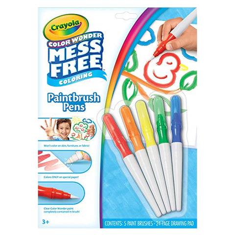 Image of Crayola Color Wonder Mess Free Paintbrush Pens & Paper, Painting for Kids-752023