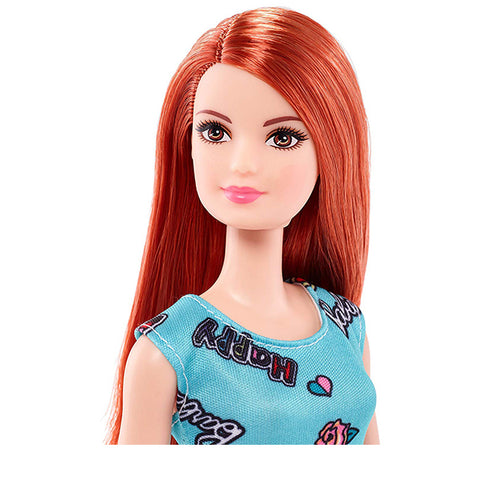 Image of Mattel Barbie Chic Doll in Blue Dress with Prints