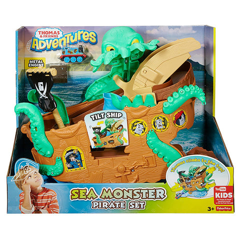Image of homas & Friends DVT14 Adventures Sea Monster Pirate Set-DVT14