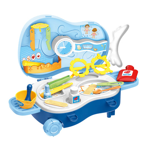 Image of Violin Shaped Trolley Bag Doctor Play Set