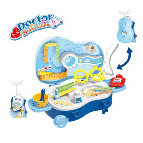 Violin Shaped Trolley Bag Doctor Play Set