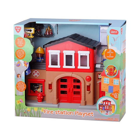 PlayGo Fire Station Playset 9844