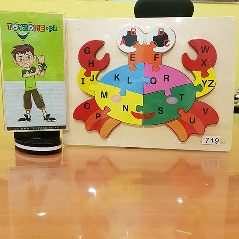 Wooden Peg Puzzles With ABC and Animals
