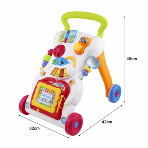 Haunger Multi functional Baby Sit-to-stand Plastic Music Walker