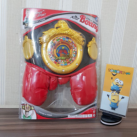 Champions Boxing Belt and Gloves