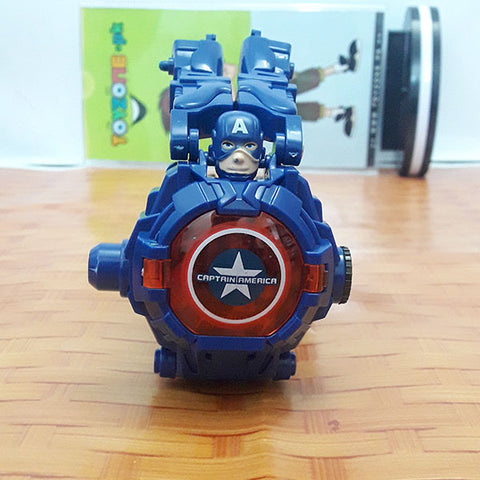 Deformation Captain America Projector Wrist Watch