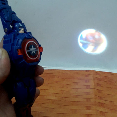 Image of Deformation Captain America Projector Wrist Watch