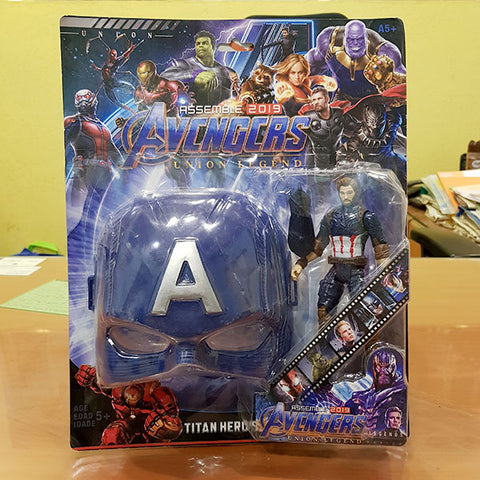 Marvel Avengers Hero - Captain America Figure With Mask (2in1)