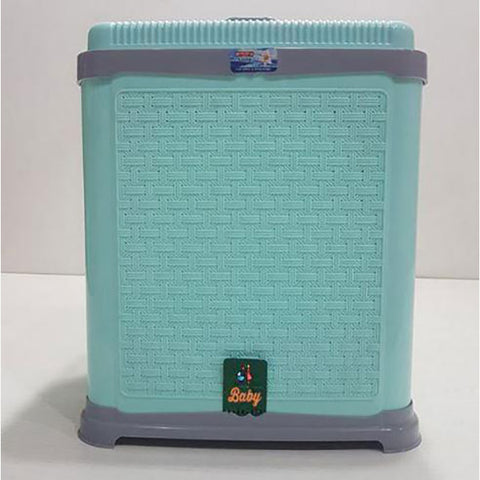 Image of Durable Plastic Hamper Laundry Basket