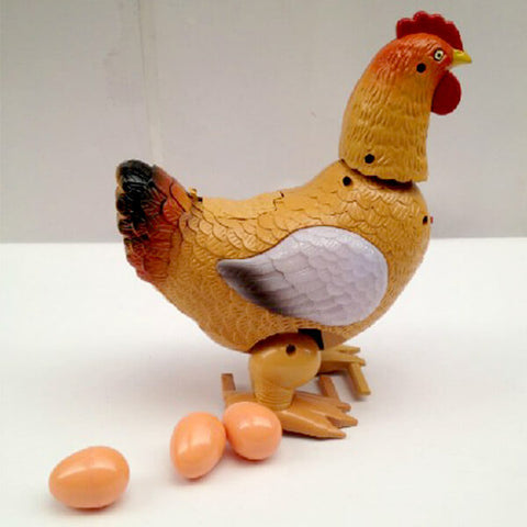 Eggs laying Walking Hen