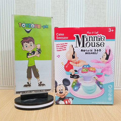 Colorful Rotating Musical Minnie Mouse Seesaw
