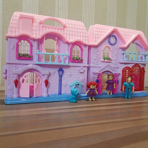 Image of Battery Operated Family Doll House (Small)