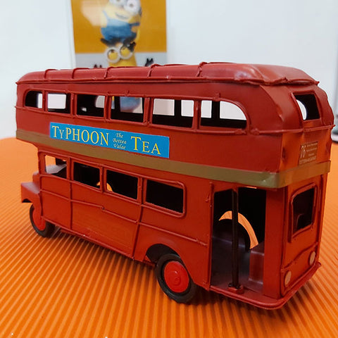 Image of Metal Hand Made - Double Decker Bus