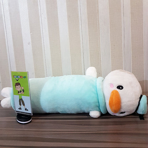 Image of Duck Pillow- Stuffed (White & Sky Blue)