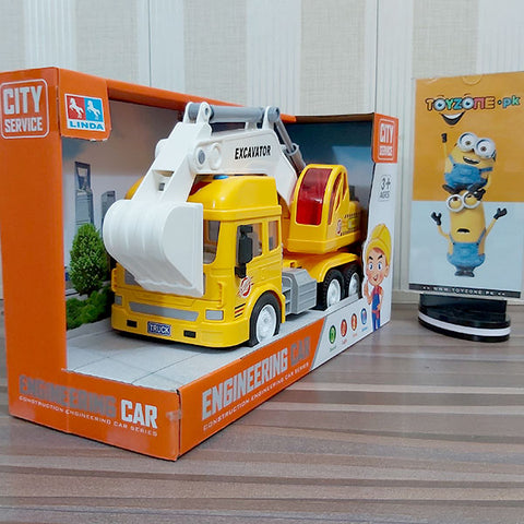 City Service Friction Super Excavator Truck with Lights and Sounds