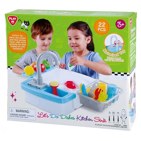 Playgo Electric Sink With Accessories