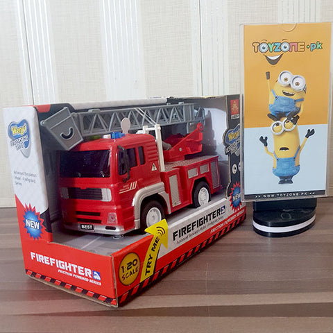 Friction Fire Truck With Light & Sound 1:20 Scale