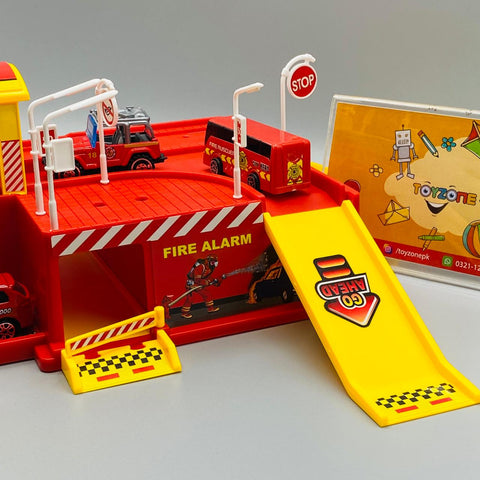 Image of Fire Fighters Parking Garage Playset - TZP1