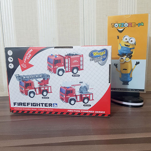 Friction Fire Fighter Truck With Light & Sound 1:20 Scale