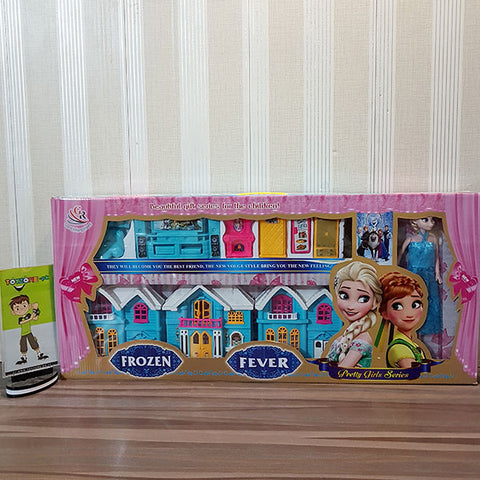Frozen Fever Doll House with Elsa Doll