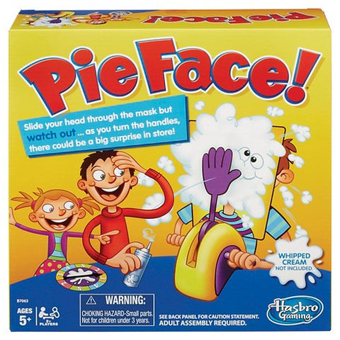 Image of PIE FACE! ROCKET GAMES HASBRO