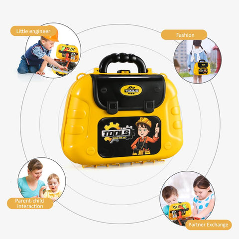 Pretend Play Tool Briefcase With Shoulder Bag