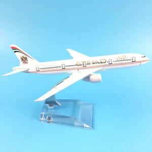 Metal Airplane - Etihad Boeing 747 - STO