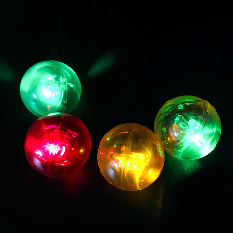 LED Flashing Bouncy Crystal Balls for Kids (Pack of 3)