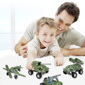 Creative Metal - Military Car Blocks 166pcs